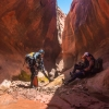 neon-fence-canyon-golden-cathedral-escalante-canyoneering-rappelling-tracy-lee-171