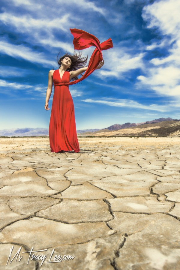 death-valley-mud-cracks-saoly-benson-tracy-lee-red-dress