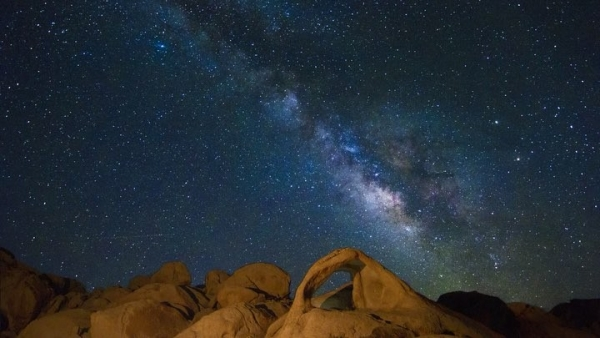 Scorpius Arch in Joshua Tree...
